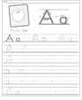 Letter Formation worksheet generator