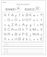 Letter Search worksheet generator